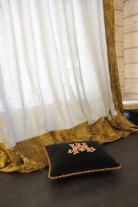 Гостиная в загородном доме. Текстиль: Лебедева Екатерина